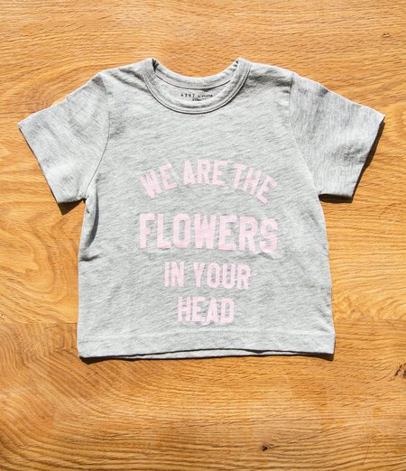 "6397 Mini Tiny Tee ""Flowers"" - Heather Grey"