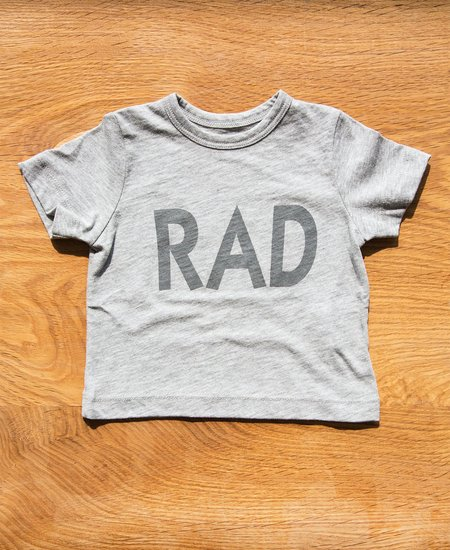 "6397 Mini Tiny Tee ""Rad""  - Heather Grey"