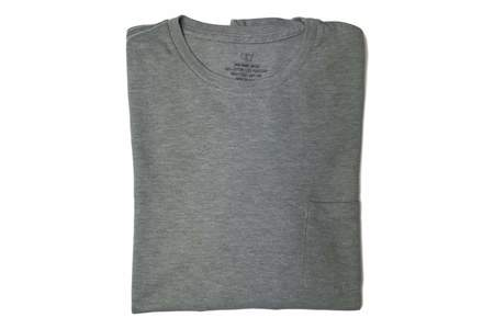 Save Khaki Heavy Heather Jersey Pocket Tee - Grey