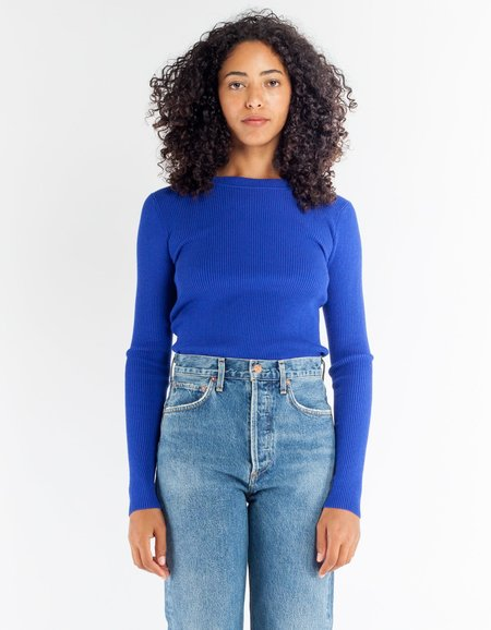 Storm & Marie Nap Rib Long Sleeve Tee - Electric Blue