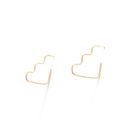 WKNDLA Step Shape Earrings