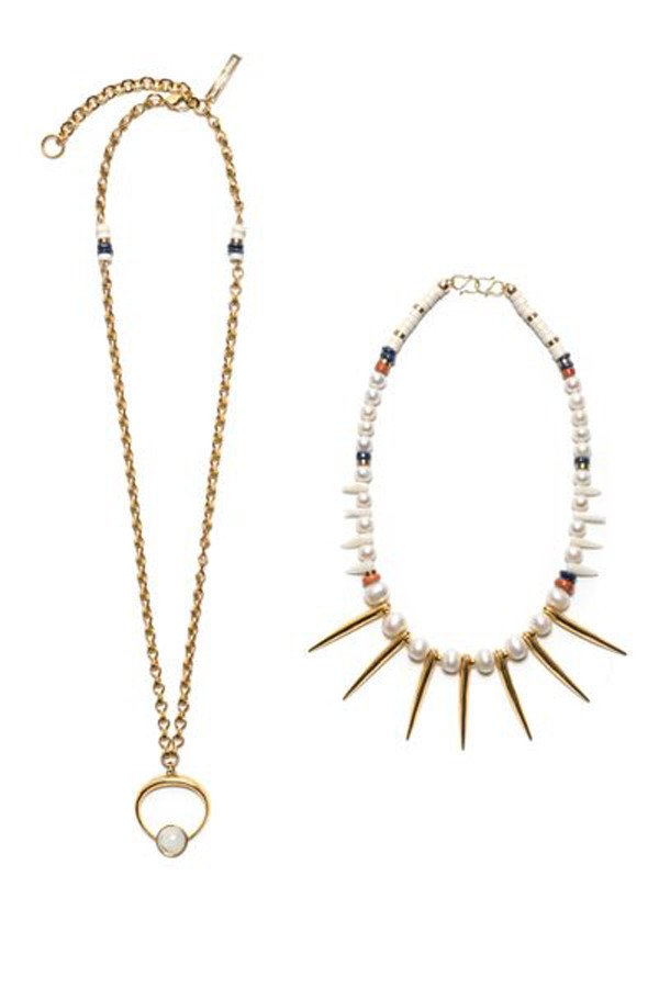 LIZZIE FORTUNATO THE NEW MOON NECKLACE