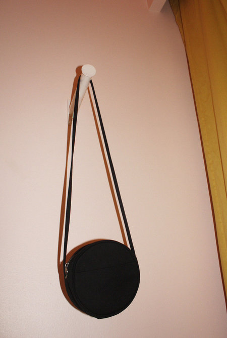 Baggu Canvas Circle Purse in Black
