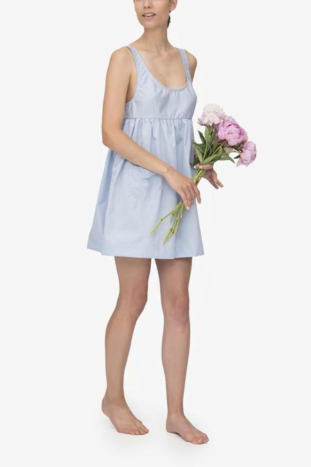 Monika Hibbs x The Sleep Shirt Pocket Nightie Tiny Blue Gingham