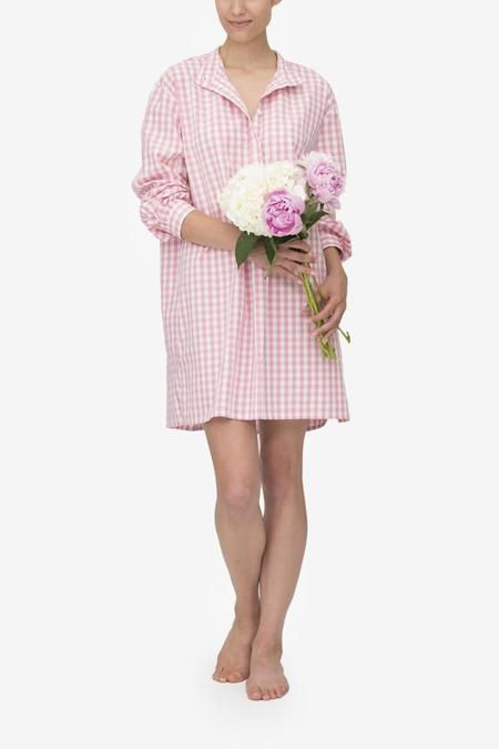 Monika Hibbs x The Sleep Shirt Short Sleep Shirt Rosy Gingham