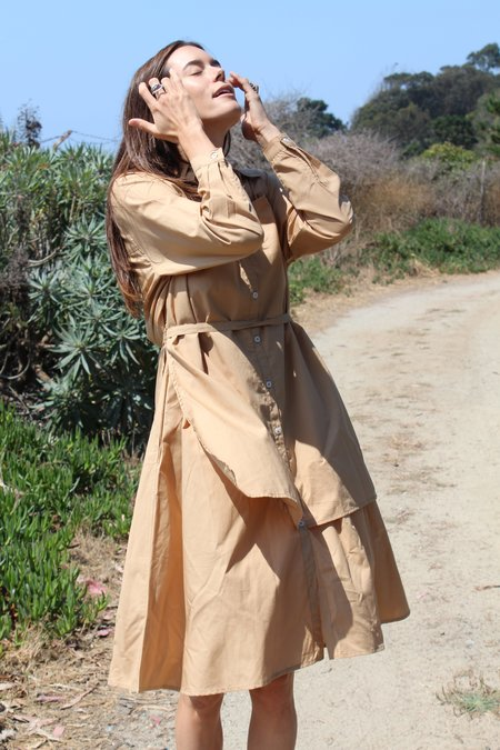Kowtow Rhyme Dress - Tan