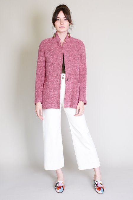 Harris Wharf London Boxy Jacket in Bubble Gum