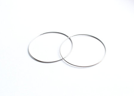 Estate by Bodega Thirteen 011 Silver Hoops