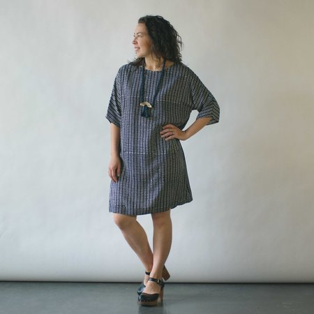 Susan Eastman Batik Dress in Triangle Print