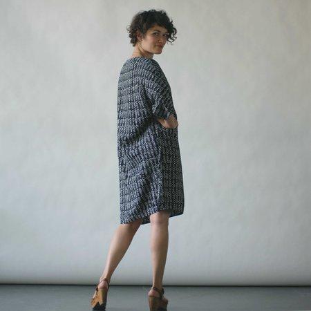 Susan Eastman Batik Dress in Arrows Print