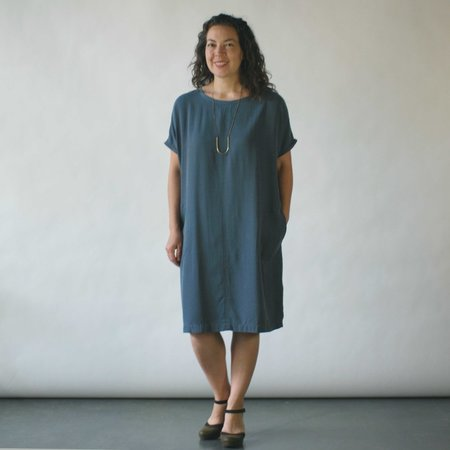 Studio 412 Seam Dress in Blue