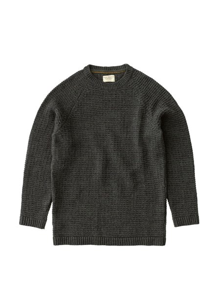Nudie Jeans Hans Structured Knit - Green Grey Melange