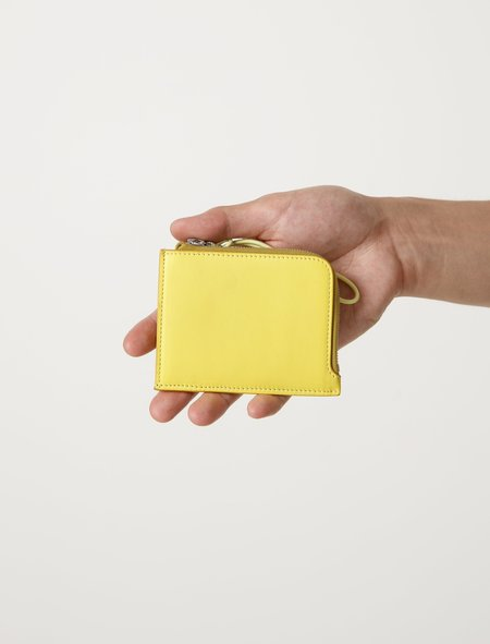 Our Legacy Mens Tuner Zip Wallet - Yellow