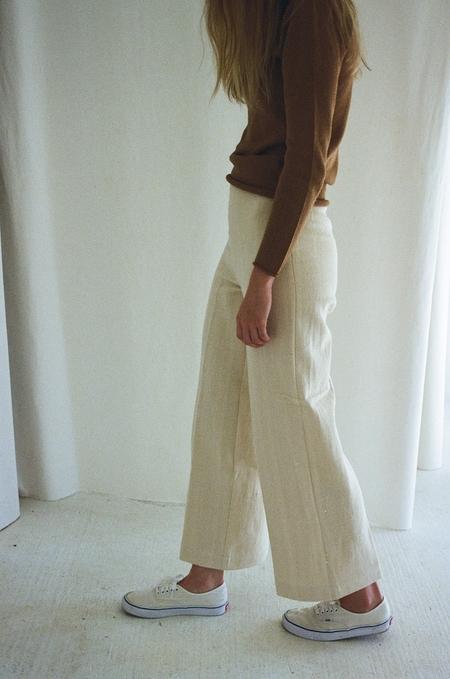 Denim Pants - Cream