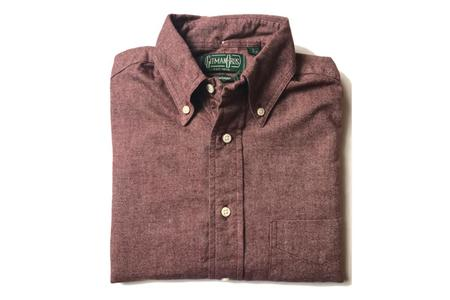 Gitman Vintage Burgundy Chambray Flannel
