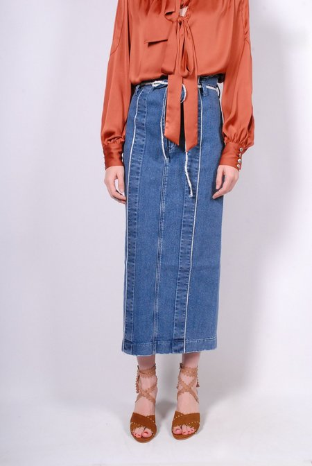 5-Knot Denim Skirt