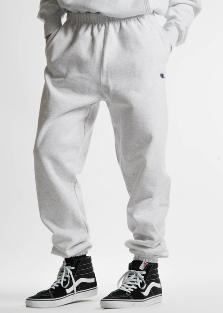 "Champion Reverse Weave Silver Grey Pant with Pocket ""C"" Logo"