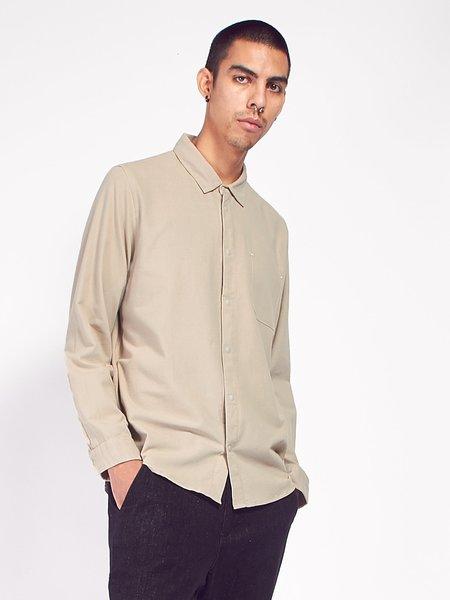 Folk Flannel Pop Stud Shirt - Sand
