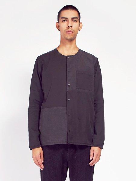 Folk Combination Pop Stud Shirt