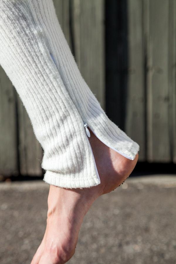 Assembly NY Ribbed Legging | cream