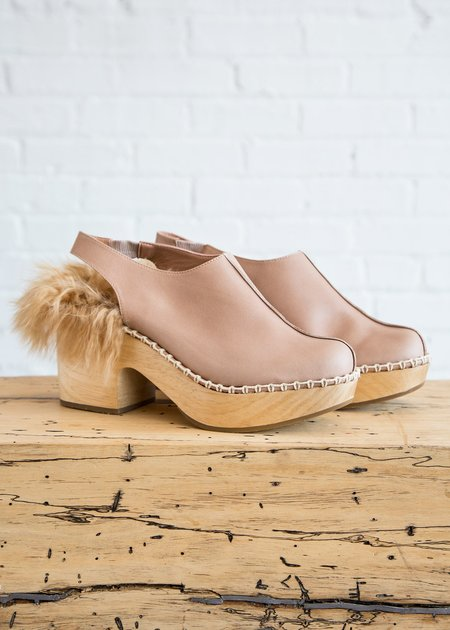 Rachel Comey Phair Clog Beige Leather