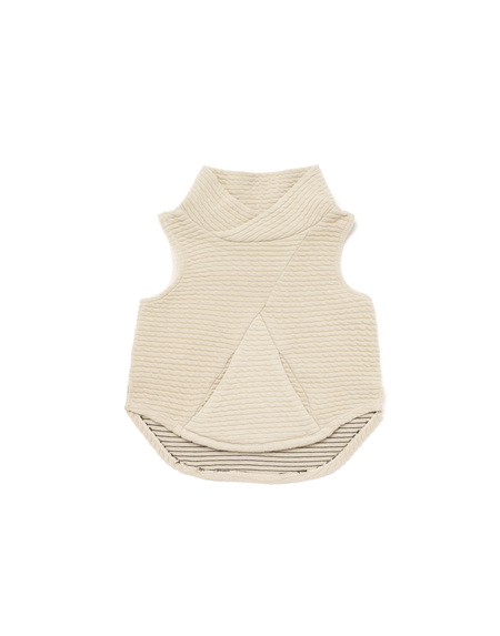 Kid's OMAMImini Ottoman Vest w/ Shawl Collar and Front Pocket Stone