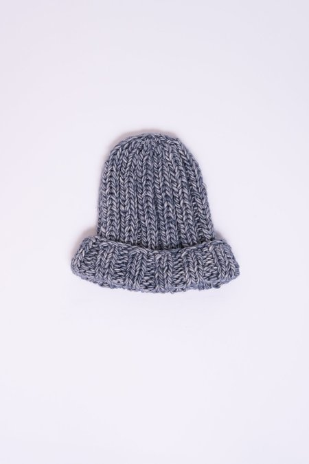 Clyde Fold Knit Hat in Denim Blue