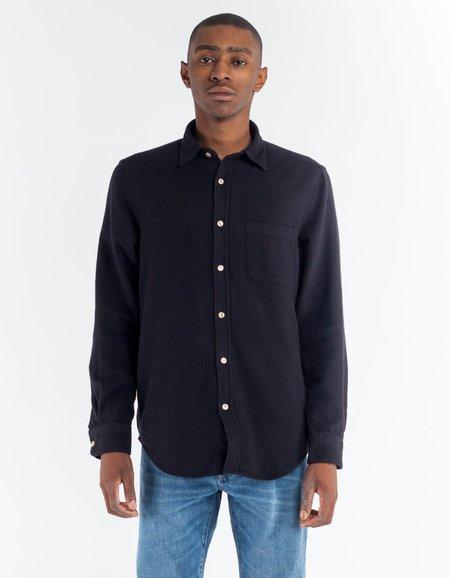 Portuguese Flannel Teca Shirt in Black
