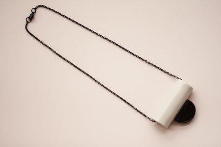 YYY Collar Tab Necklace - Peach