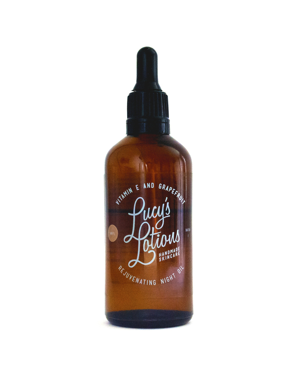 Lucy's Lotions Vitamin E and Grapefruit Rejuvenating Night Oil (100ml)