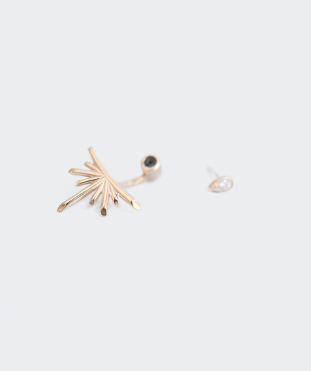 Meadowlark Jewellery Petal Burst Ear Jacket with Diamond Stud