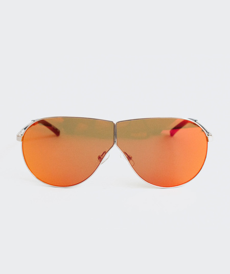 Prism Visor Aviator Sunglasses - Red