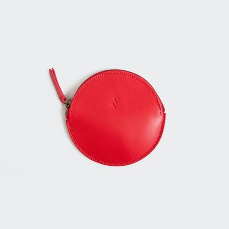 VereVerto Mon Round Coin Purse - Cherry