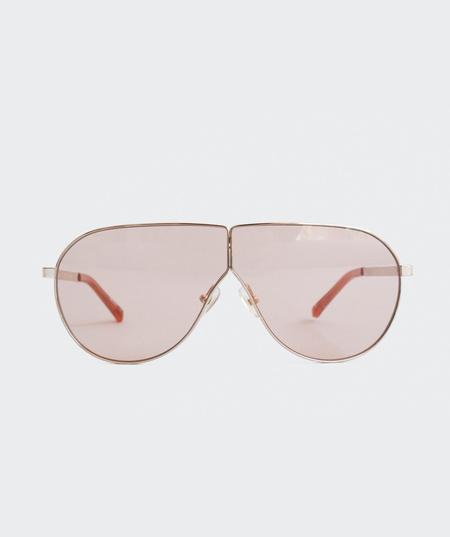 Prism Visor Aviator Sunglasses - Rose