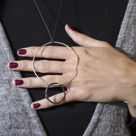 Gabrielle Desmarais Double Circle on Thread Necklace