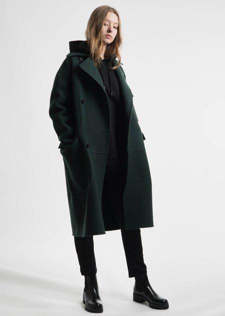 Etudes Green Monument Wool Coat