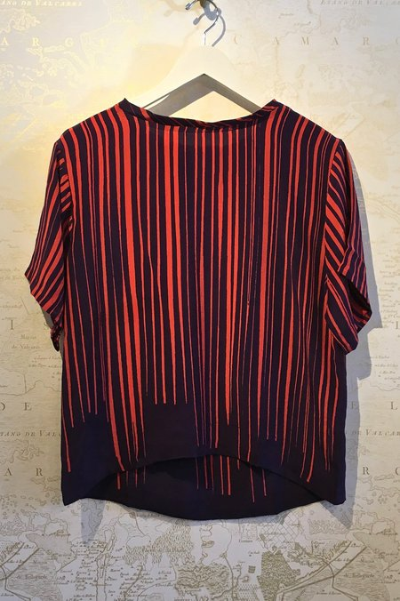 A Peace Treaty Isa Silk Abstract Stripe Tee