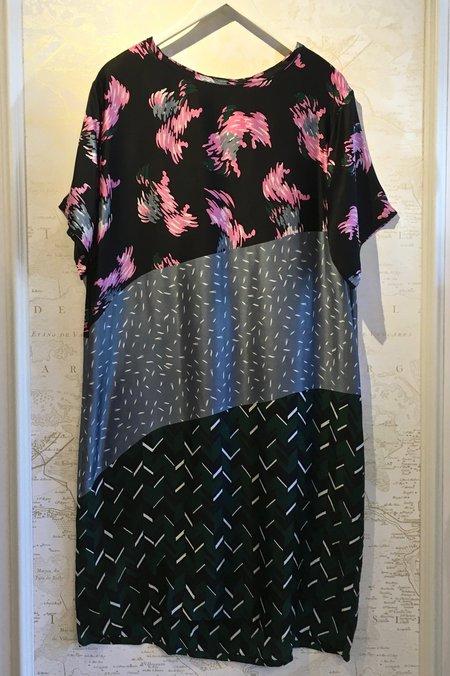 A Peace Treaty Kato Silk Multi Print Shift Dress