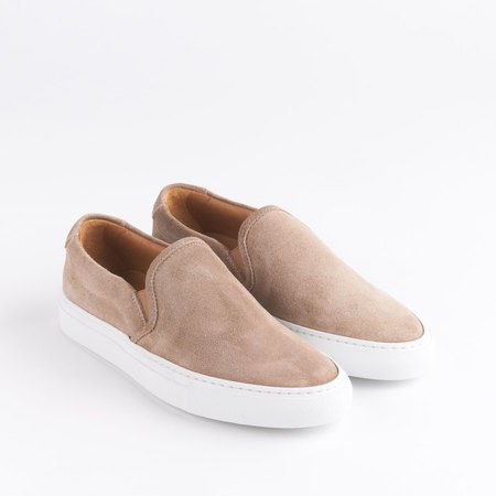 WOMAN BY COMMON PROJECTS Slip On in Tan Waxed Suede