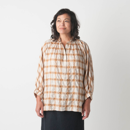 NICO Honey Blouse in Beige Check