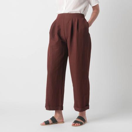 SAMUJI Vevida Trouser in Brown