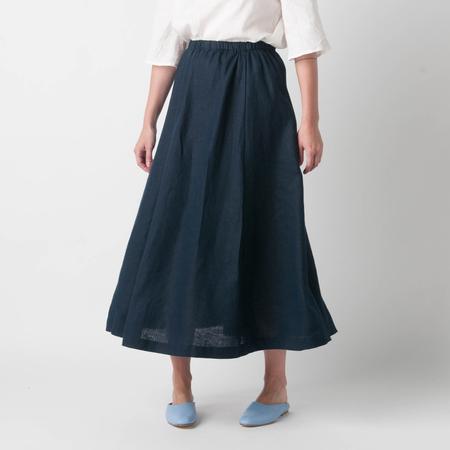 FOG LINEN WORK Kisa Skirt in Navy