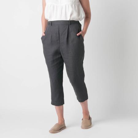 FOG LINEN WORK Felicie Pant in Blue Grey