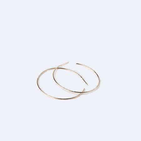 KRISTEN ELSPETH 14K Gold Large Thread Arc Hoops