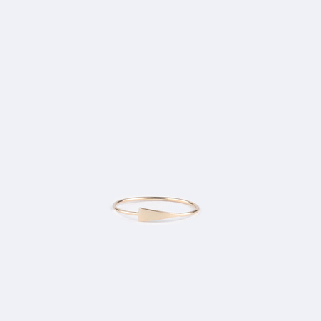 KRISTEN ELSPETH 14K Gold Spear Ring