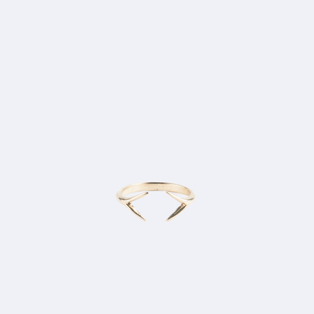 WWAKE Shiny Open Diamond Ring in 10K Yellow Gold