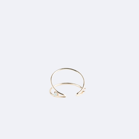WWAKE Shiny Wrapped Open Ring in 10K Yellow Gold