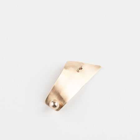 CINQ Brass Theta Brooch