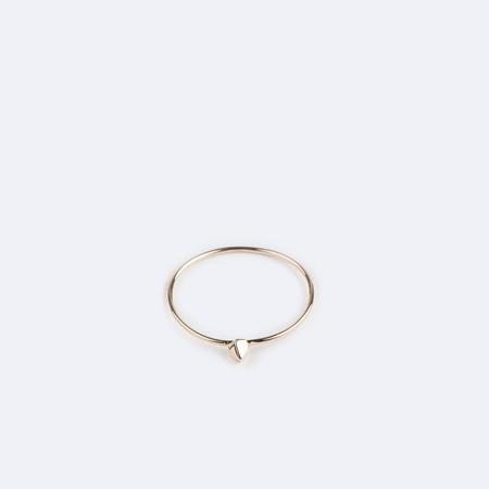 KRISTEN ELSPETH 14K Gold Herkimer Point Ring Large