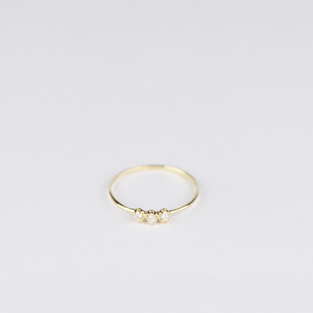 SATOMI KAWAKITA Orion White Diamond Ring in 18K Yellow Gold